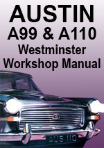 Austin A99 and A110 MkI and MkII Westminster Workshop Repair Manual