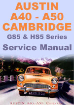Austin A40 & A50 Cambridge Workshop Manual