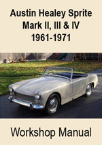 Austin Healey Sprite Mark 2, 3, and 4  1961-1971 Workshop Repair Manual